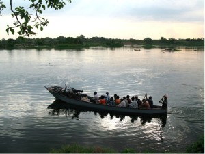 Crossing the Nile to reach Kamuli