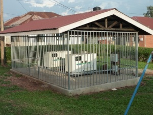 Generators at Kamuli Hospital that come on when the power fails