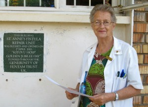 Dr (Sr) Maura Lynch Director Kitovu Fistula Unit